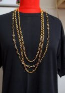 Retro Necklace with Crystal Glass Beads (1970s)