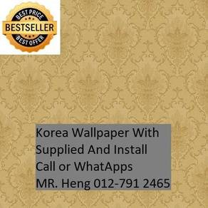 3D Korea Wall Paper with Installation 65es