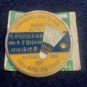 Lencana besi Pertandingan bulu tangkis 1981