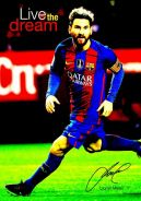 Poster Messi Poster Retro Look Effect #27 - motiva