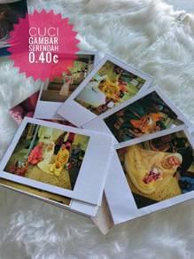 Cuci gambar polaroid dari telefon