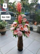 (2) Flower With Stand/ Bunga dengan Stand