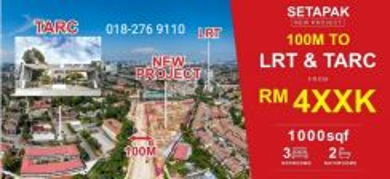 KL PV9 Setapak Next TARUC Walking LRT High Return Rental Zero DP