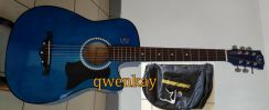 Acoustic Guitar 38Inch A&K #010 Blue