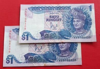 $1 Jaafar Hussein HA6769408-09 (2 pcs)