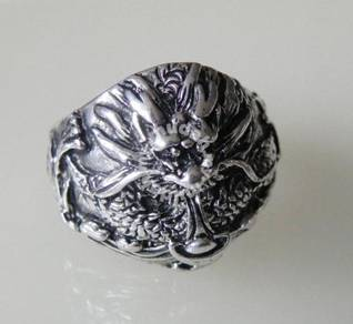 ABRSM-D012 Silver Metal Ring 9 - Dragon n Yuan Bao