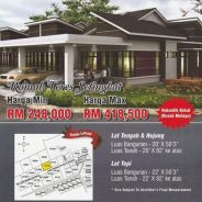 Modern single storey (malay reserve)