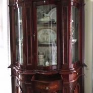 Italian (Mahogany) Display Cabinet