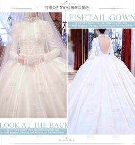 White wedding bridal dress gown RB0472