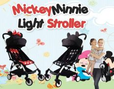 Mickey and minnie mouse light stroller