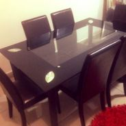 Dining Table Set Tampered Glass