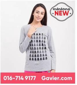 Baju Minions Grey Long Sleeve Tee *Free Shipping