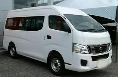 14-seater van rental with driver
