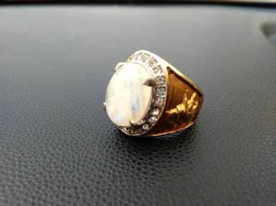 Cincin Batu Akik Sarung Titanium Saiz 8