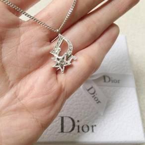 Authentic dior rhinestone necklace rantai jewelry
