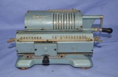 Antique russian mechanical adding machine