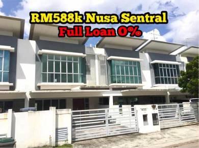 Nusa Sentral FULL LOAN 0% Nusajaya Ner Bukit Indah Bayu Gelang Patah