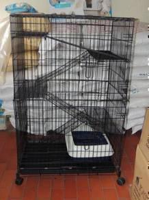 Sangkar Baru Kucing 4 Tingkat Wrought Iron