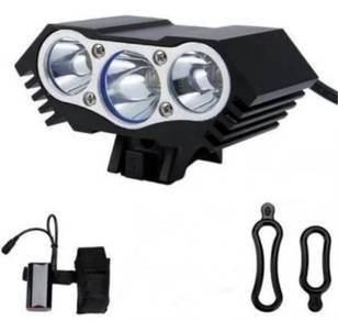 Rechargeable 3600 Lumens Triple LED Headlight