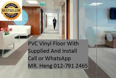 Natural Wood PVC Vinyl Floor - With Install vg67u