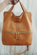 Genuine Fossil Leather Handbag