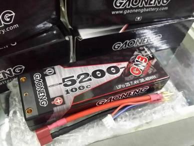 GNB 7.4V 2S 5200mAh 100C Hardcase Lipo Battery