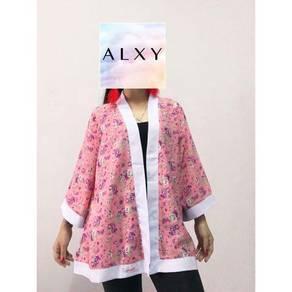 Kimono Cardigan -Pink Flowery