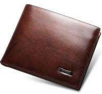 Galaxy Men's Business Casual Leather Short Wallet