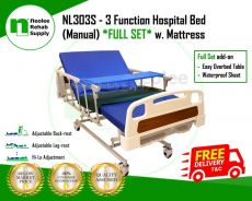 [Full Set] Hospital Bed 3 Function (Manual)