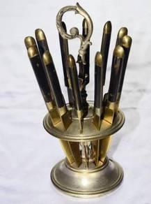 Antique vintage stahl brcnce cutlery set