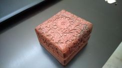 Carved Solid Wooden jewellery box