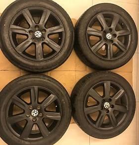 Ori Matte Black Polo/Vento 15 Sport Rim & Tires