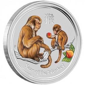 2016 monkey 1 kilo silver gemstone edition