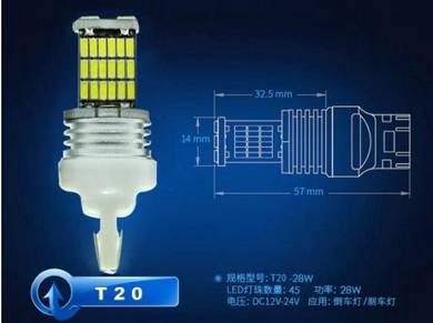 HONDA HRV Front LED Bulb T20 / W21W WHITE Colour