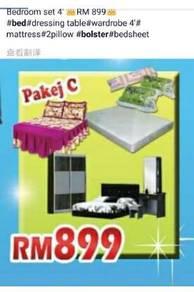 New Full bedroom set