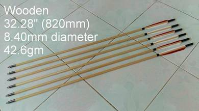 High quality handmade wood arrows 6pcs