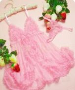 Sexy pink lingerie sleeping dress sleep wear nice