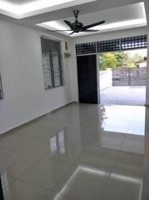Full loan taman bukit mutiara single storey end lot