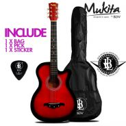 Mukita 38Inch Acoustic Guitar - Red - March/2018