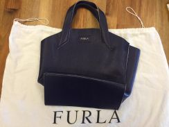 Authentic Furla Dark Blue Tote bag
