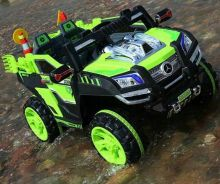 Kids sand eletrcik jeep green