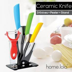 Set of ceramic knife / pisau seramik 10
