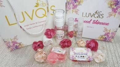 Luvqis seaweed skincare 5 in 1 + free gift