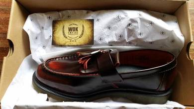 Dr Martens Adrian Tassel Loafer Rub Red Original