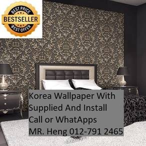 Wall paper Install at Living Space 9iuy43