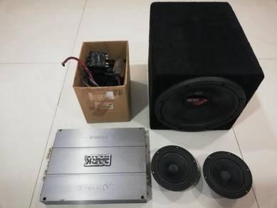 Car Sound System Amplifier, Speaker & Subwoofer