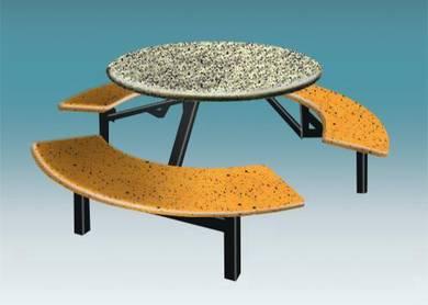 Fibreglass Canteen & Food Court Set -6 Seater RT