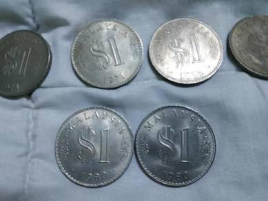 Duit syiling lama rm1 tahun 1971-1980