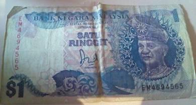 Old money 1 ringgit malaysia