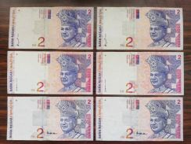 6pcs RM2 8th ,9th ,10th Banknote